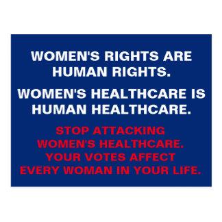 Postal La atención sanitaria de las mujeres es atención