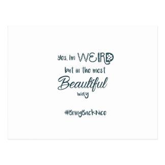 Postal ¡La ayuda crece el movimiento al #BringBackNice!