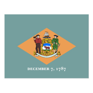 Postal La bandera de Delaware