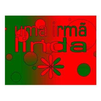 Postal La bandera de Irmã Linda Portugal del Uma colorea
