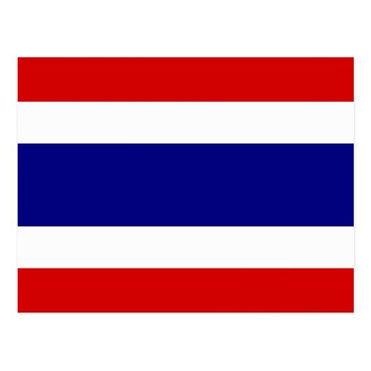 Postal La bandera de Tailandia