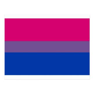 Postal La bandera del BI vuela para el orgullo bisexual