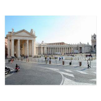 Postal La basílica y las columnas de San Pedro en la