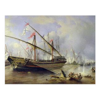 Postal La batalla de Grengham el 27 de julio de 1720
