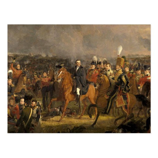 Postal La batalla de Waterloo