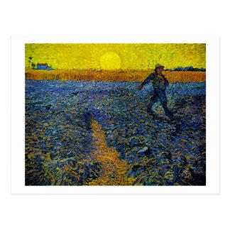 Postal La bella arte de Van Gogh del sembrador (F422)