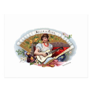 Postal La Bella de Cuba Vintage Cubano