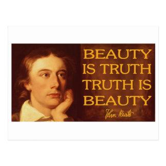 Postal La belleza es verdad