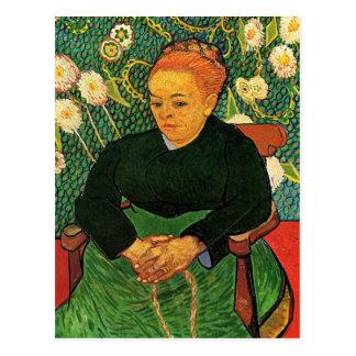 Postal La Berceuse Augustine Roulin de Vincent van Gogh