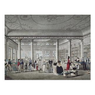 Postal La biblioteca de Pasillo en Margate, 1789