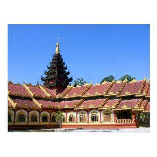 Postal La birmano Keng de Phra Jow del templo budista