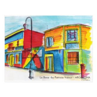 Postal La Boca - por Patricia Vidour - la ARGENTINA
