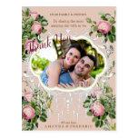Postal La boda del jardín de Bush del Victorian le