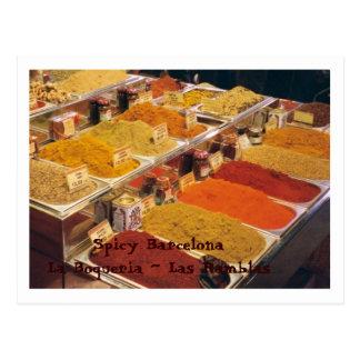 Postal La Boqueria - especias para su comida