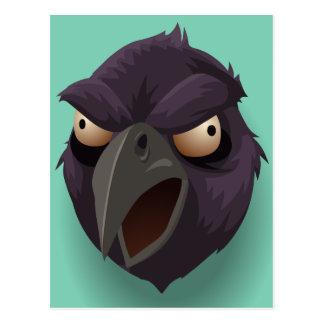 Postal La cabeza del cuervo púrpura