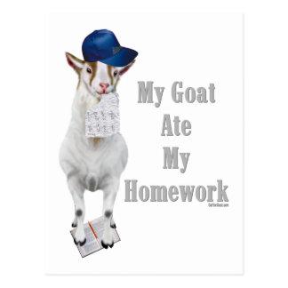 Postal La cabra divertida comió mi preparación