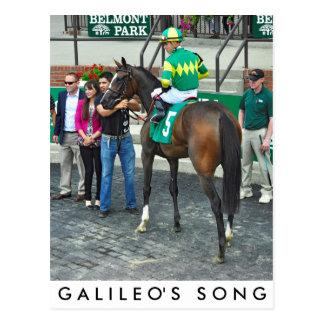 Postal La canción de Galileo