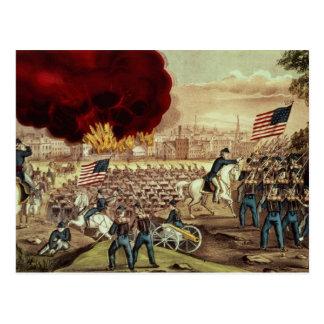 Postal La captura de Atlanta del Ejército de la Unión