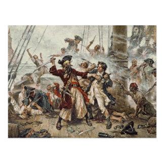 Postal La captura de Blackbeard