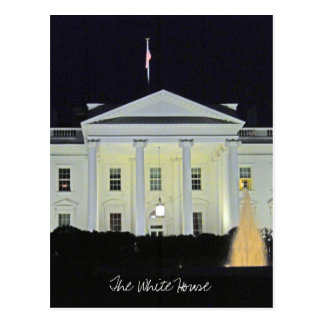 Postal La Casa Blanca en el Washington DC 001 de la noche