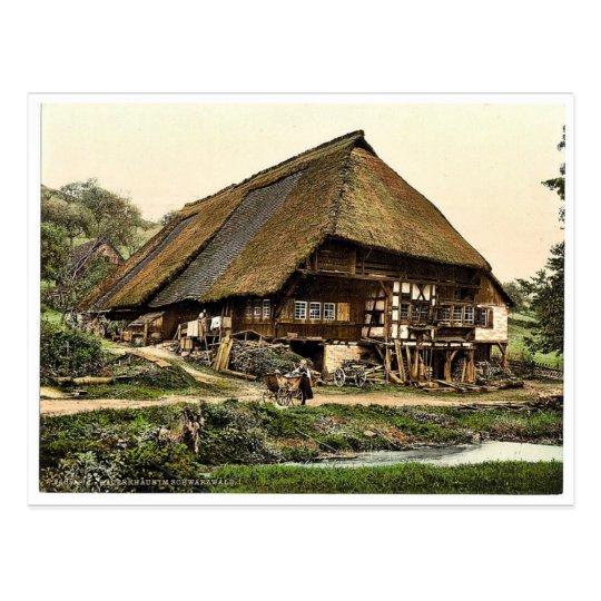 Postal La casa de un campesino, bosque negro, Baden, ra