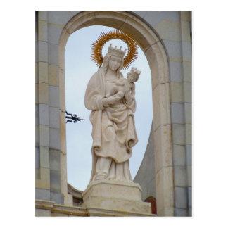 Postal La catedral de Madrid