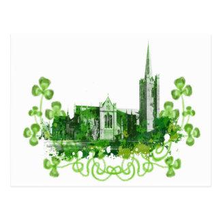 Postal La catedral de San Patricio en Dublín