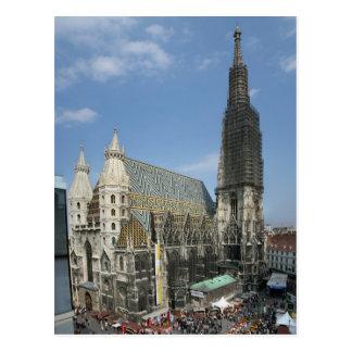 Postal La catedral de St Stephen, Viena Austria
