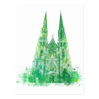 Postal La catedral Nueva York de San Patricio