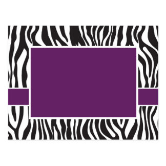 Postal La cebra púrpura invita