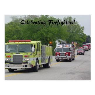 Postal La celebración del bombero