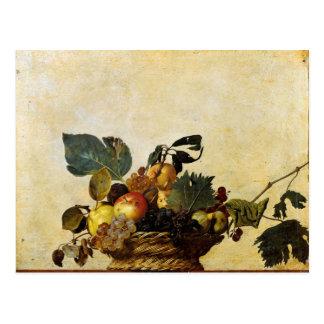 Postal La cesta de Caravaggio de fruta
