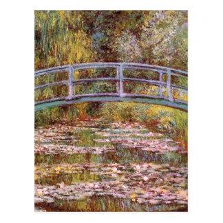 Postal La charca del lirio de agua de Claude Monet