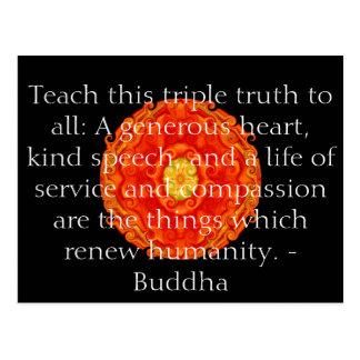 Postal La cita de Buda inspira de motivación