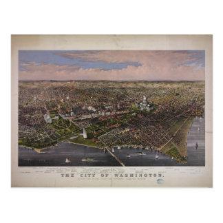Postal La ciudad de la C.C. de Washington a partir de