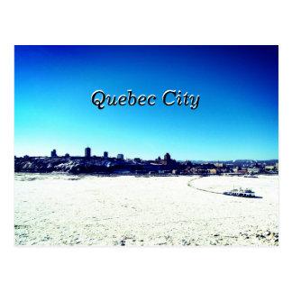 Postal La ciudad de Quebec y St. el río Lawrence el