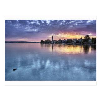 Postal la ciudad del navidad del lago de Constanza