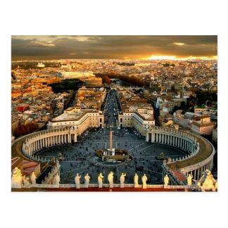 Postal La Ciudad del Vaticano cuadrada de San Pedro