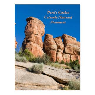 Postal La cocina del diablo, MNT nacional de Colorado