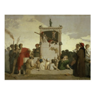 Postal La comedia humana, c.1852