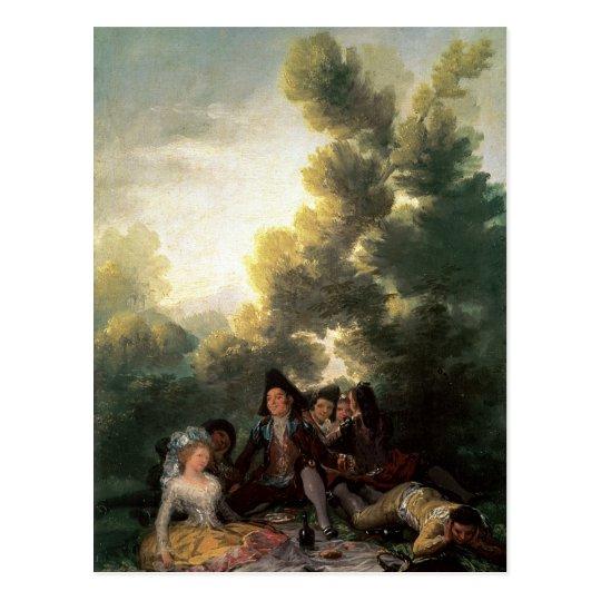 Postal La comida campestre, 1785-90