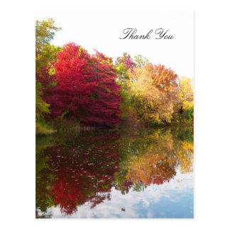 Postal La condolencia de la belleza del otoño le agradece