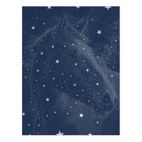 Postal La constelación chispeante del caballo protagoniza