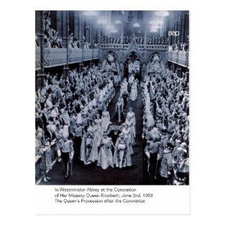 Postal La coronación de H.M. Queen Elizabeth