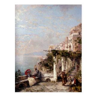 Postal La costa de Amalfi de Francisco Richard
