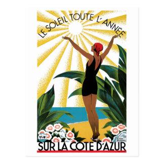 Postal La Cote d'Azur de Sur