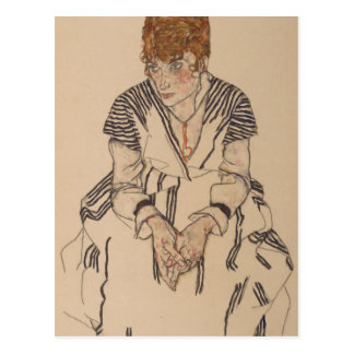 Postal La cuñada del artista de Egon Schiele-
