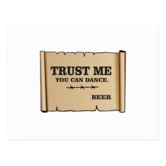 Postal la danza dice la cerveza