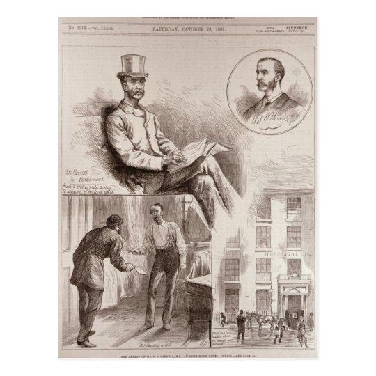 Postal La detención de Sr. C.S. Parnell, P.M.
