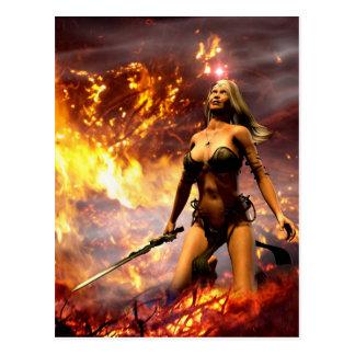 Postal la diosa del fuego